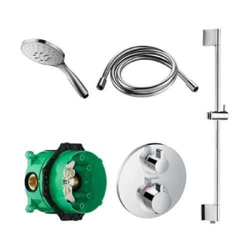 Abacus Temptation Thermostatic Concealed Shower Kit With Hand Shower